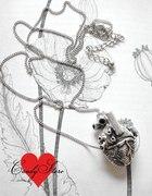 Naszyjnik serce anatomiczne sekretnik Candy Store