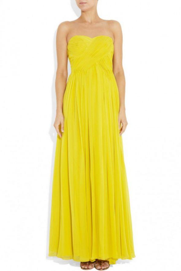 żółta sukienka maksi rozmiar s m