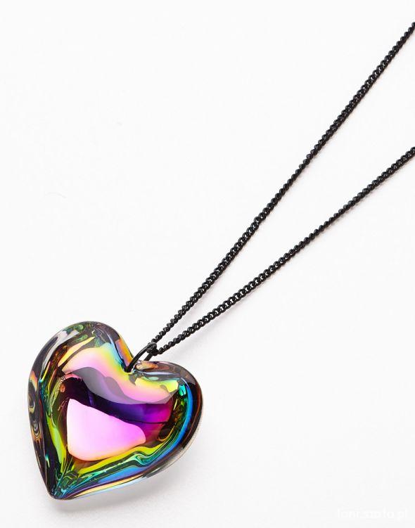Naszyjnik z zawieszką w kształcie serca RESERVED...