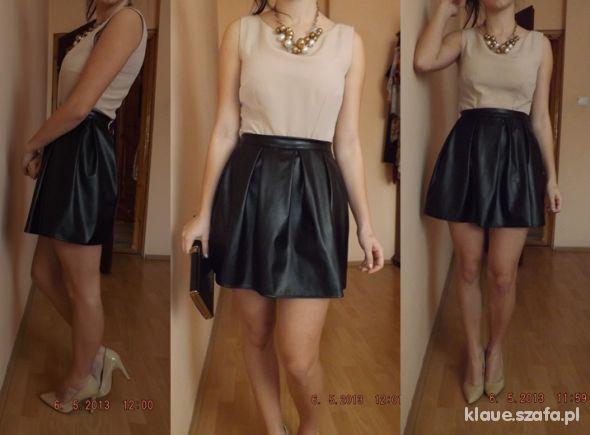 Mój styl skorzana spodniczka 2