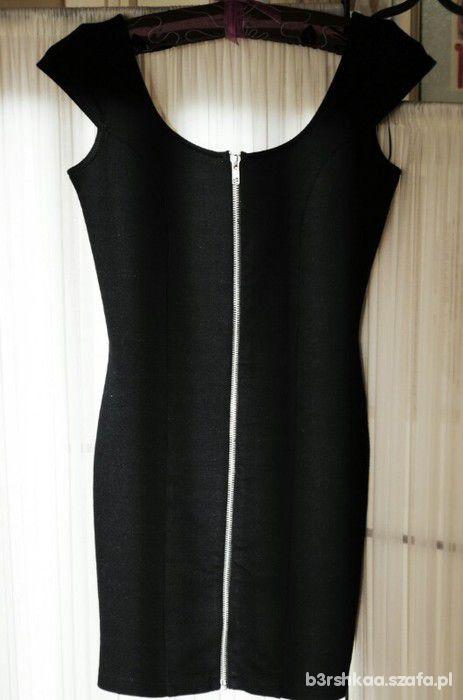 Sukienka H&M czarna zip
