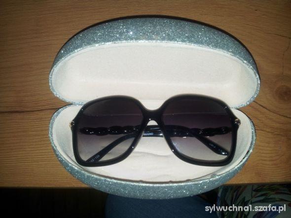 Pozostałe srebrne duże etui pokrowiec pudełko na okulary