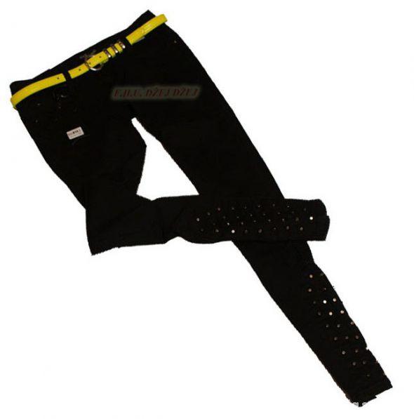 Rurki dżety Czarne biodrówki NOWE spodnie
