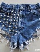 Ciekawe spodenki jeansowe WYMIANA