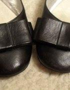 Baleriny czarne z kokardą rozmiar 39
