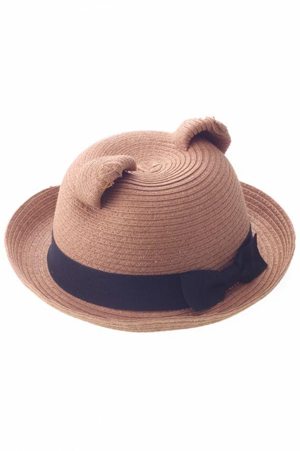 kapelusz z uszami misia