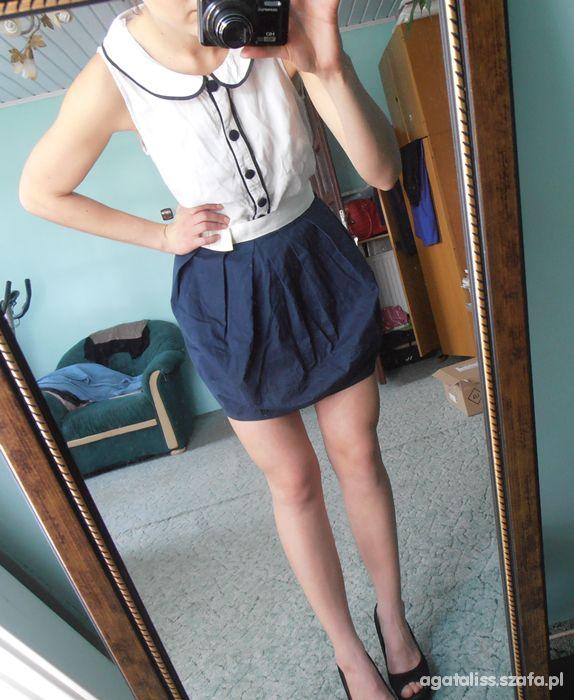 Mój styl rozkloszowana spodniczka na cieple dni