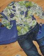 ZARA koszula mgiełka floral kwiaty...