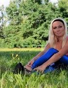 Leginsy niebieskie ala latex