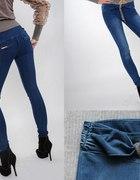 CLUB DONNA spodnie jeansy zawieszka łańcuszki 36...