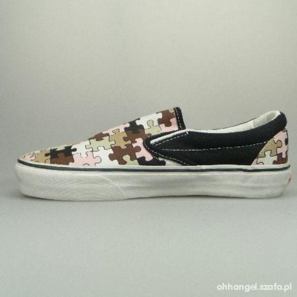 Vans Damen Schuh Classic Slip On PUZZLE w Trampki Szafa.pl