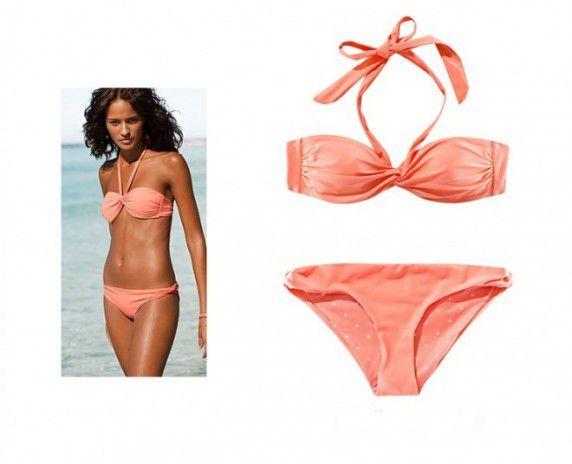 Morelowy Strój kąpielowy bikini H&M