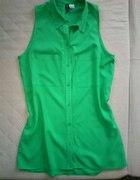 H&M XS zielona koszula długa