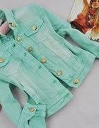 Miętowa jeansowa kurteczka