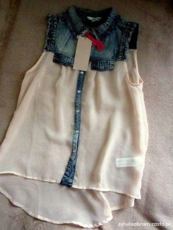 Bluzki bluzka tally weijl s mgiełka jeans