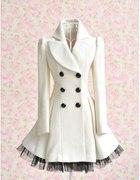 Płaszcz biały dokładnie taki jak na zdjęciu