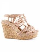 H&M koturny sandałki sandały pudroworóżowe 39
