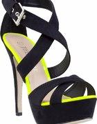 szpilki sandały czarne szpilki