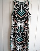 Sukienka w azteckie wzory pastele 40 42