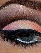 makijaż wieczorowy ombre