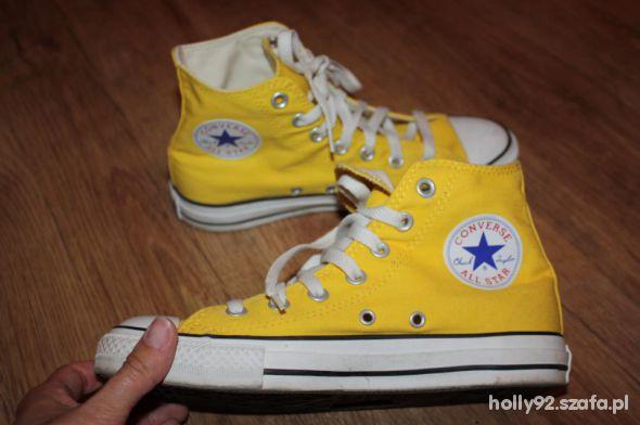 Converse żółte trampki 36