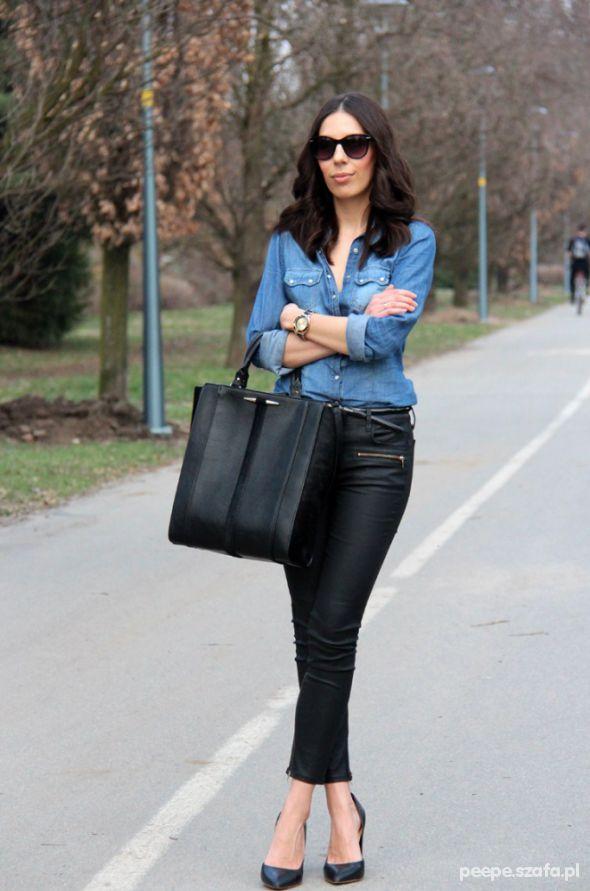 Eleganckie woskowane spodnie