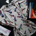 T shirt bluzka z nadrukiem haftowany koliber