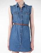 Jeansowa sukienka 44 46 okazyjna cena
