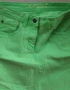 neonowa limonka zielona spódniczka jeansowa S