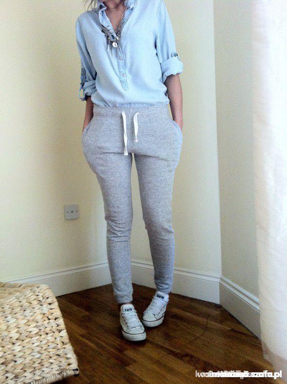 Ubrania Spodnie dresowe rurki XL