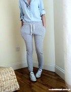 Spodnie dresowe rurki XL