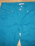 turkusowe spodnia...