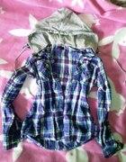 bawełniana koszula z odpinanym kapturem