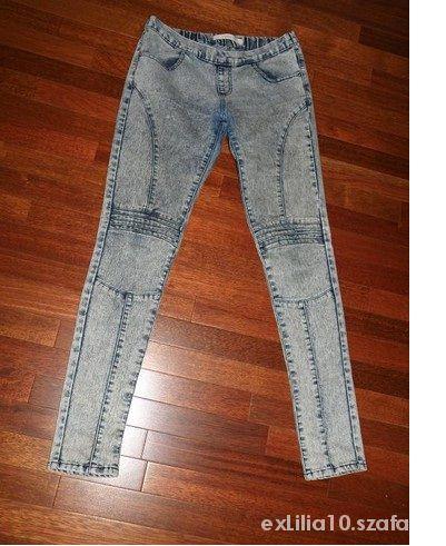 TROLL legginsy TREGGINSY jeans MARMURKI przeszycia