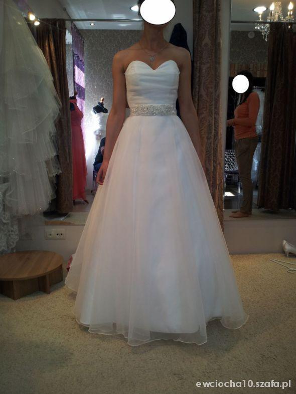 Eleganckie Moja suknia ślubna