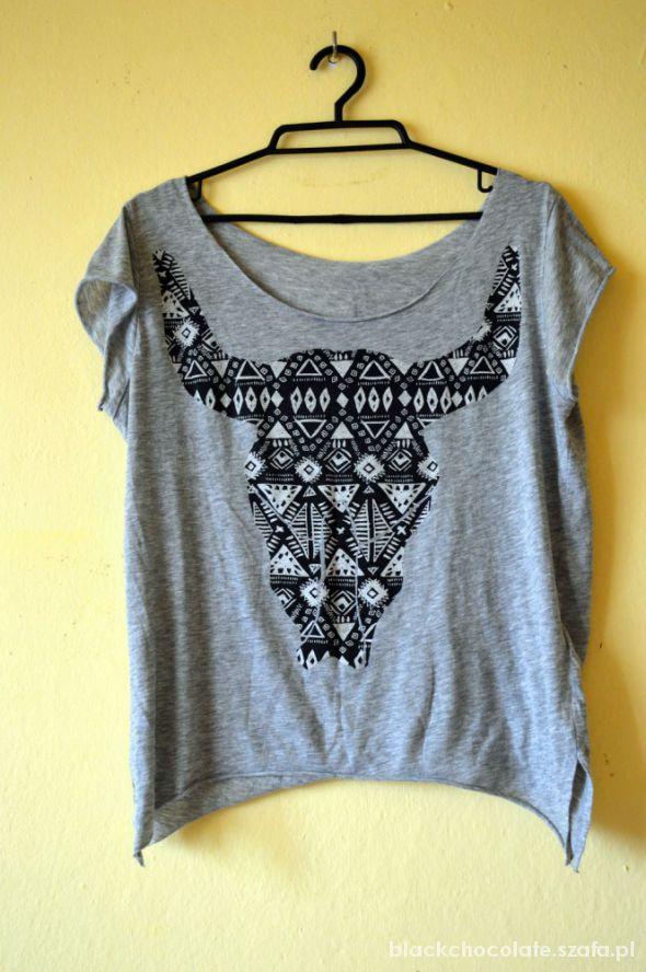 luźna koszulka z wzorem aztec h&m
