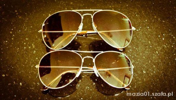 Okulary przeciwsłoneczne aviatorki pilotki h&m...