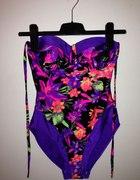 Strój kąpielowy kolorowy M 40 Floral