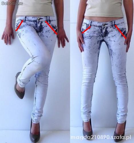 Jeansy rurki xs z kieszeniami wsuwanymi czyt opis
