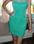 Miętowa sukienka h&m