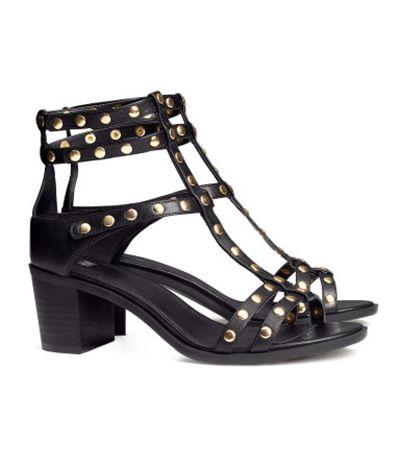 Czarne sandały rzymianki gladiatorki ćwieki H&M