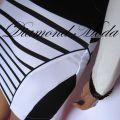 paski czarno białe