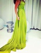 maxi dress limonkowa