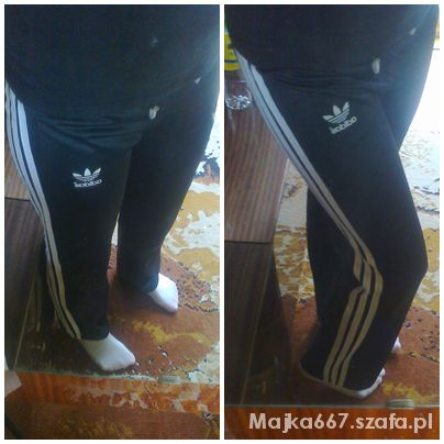9742c4d9b1353 Czarne dresy ADIDAS z białymi paskami w Dresy - Szafa.pl