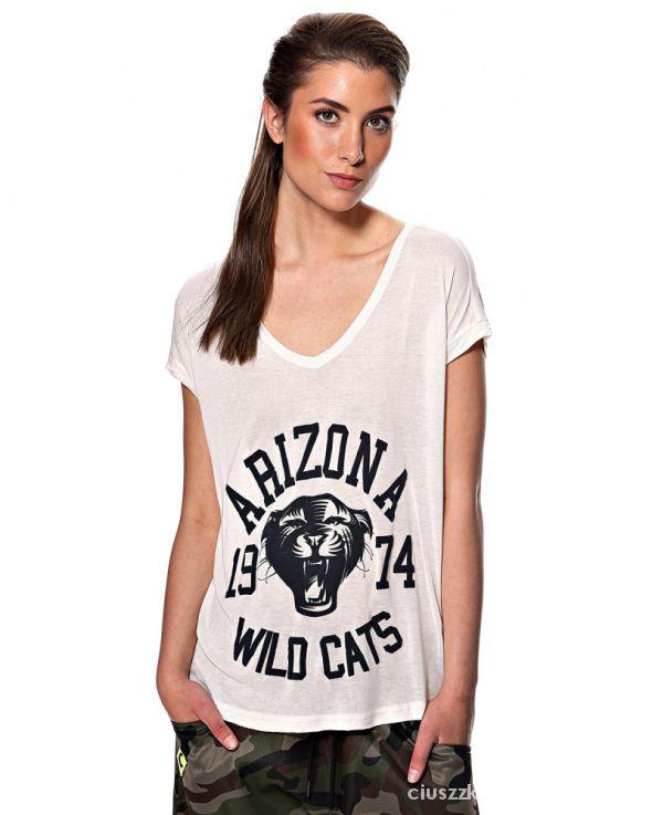 T-shirt T shirt nadruk napis tygrys