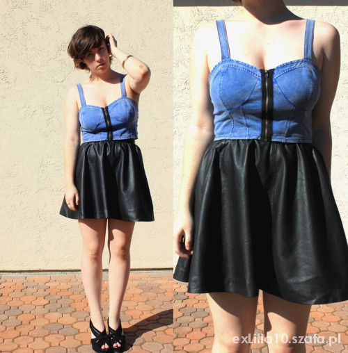 Sexi BRALET jeansowy TOPSHOP