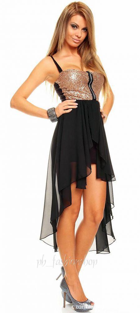 Poszukuje asymetrycznej sukienki z zlotą górą