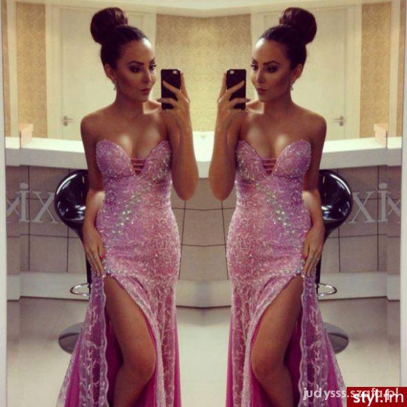 Eleganckie cudowna suknia