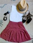 ceglasta bloggerska spódnica z gorsetem za 29zł