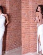 sukienka maxi gołe plecy lub siateczka